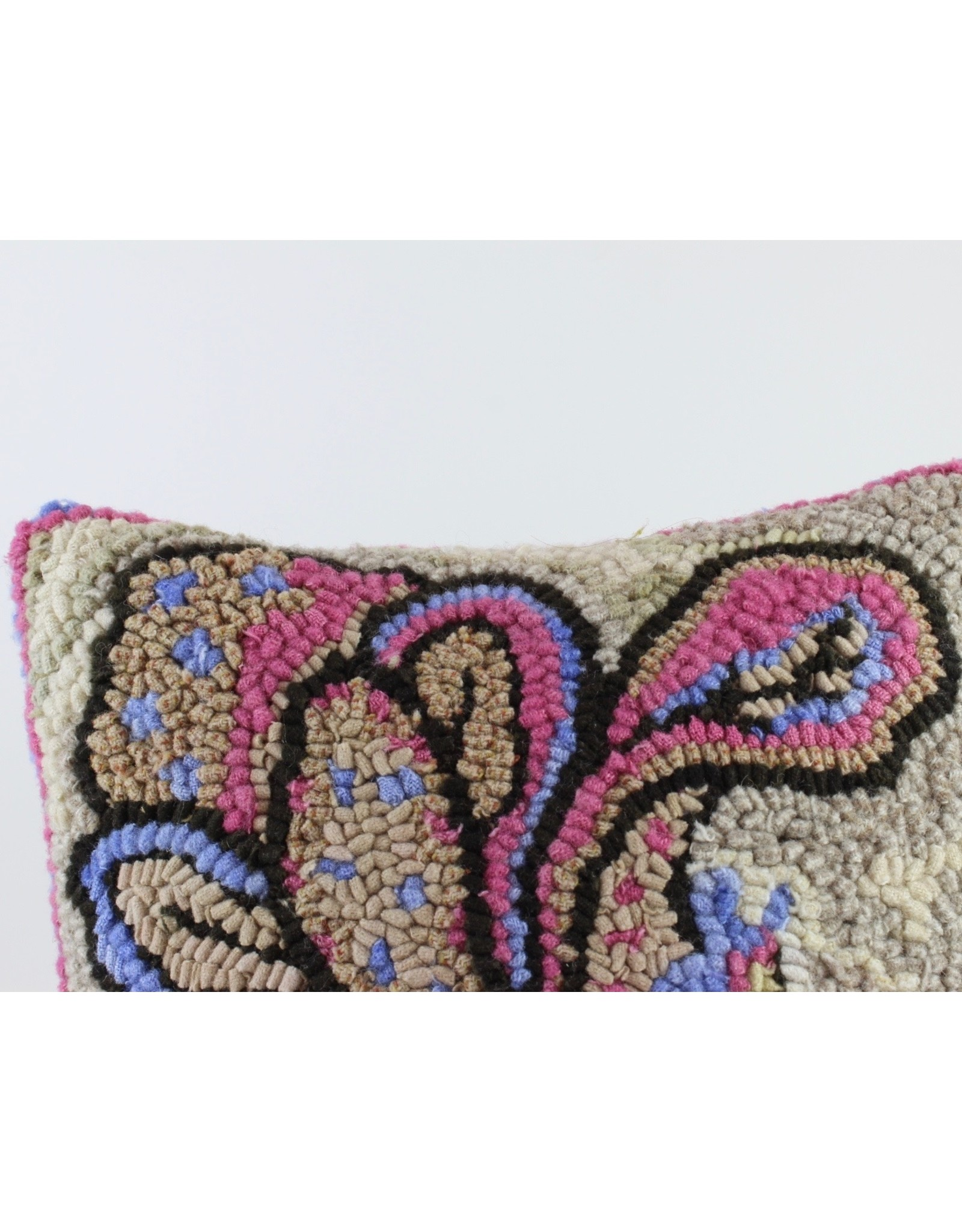 Paula Davis Floral Motif Cushion by Loop Maker