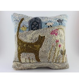 Paula Davis Cat Cushion by Loop Maker