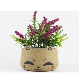 Tessa Reed Cat Head Planter by Tessaramics