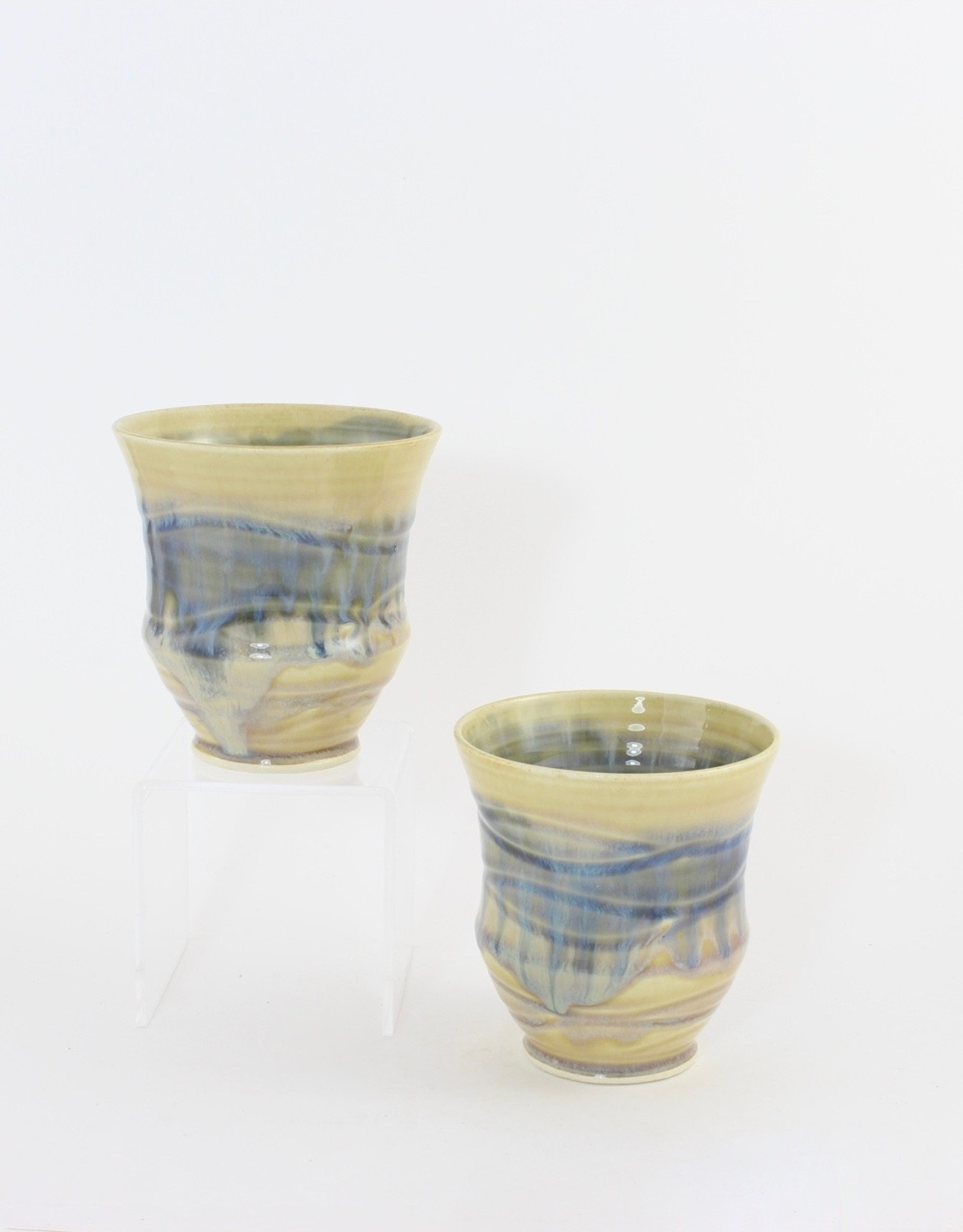 Linda Wright Wine Cups, various glazes, Big Hill Pottery