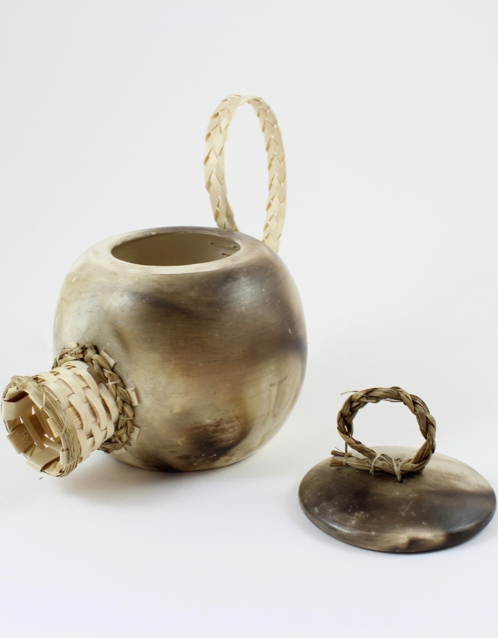 Nancy Oakley Sweetgrass Teapot by Nancy Oakley