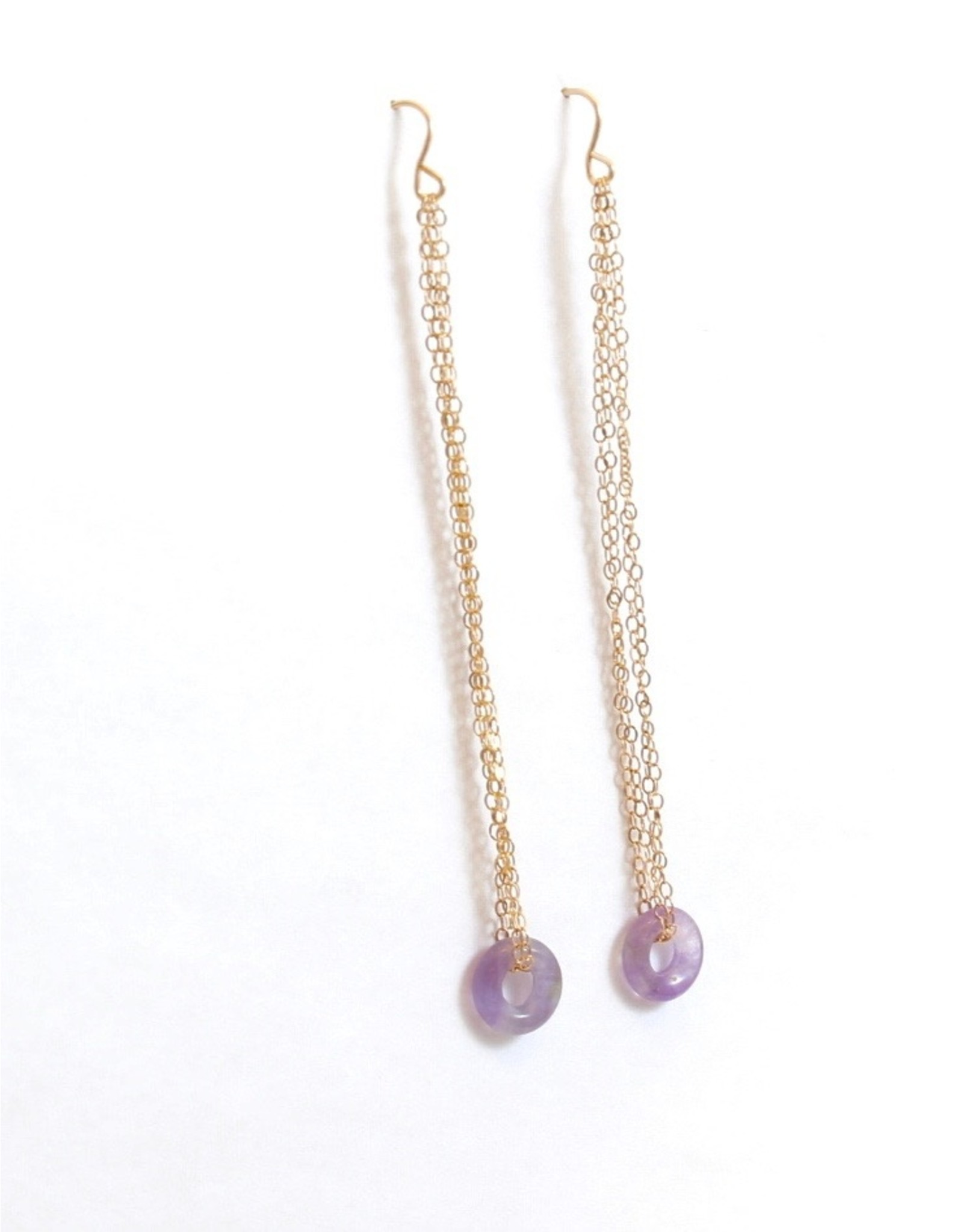 Jacqueline Finn Lilac Drop Earrings by Jacqueline Finn