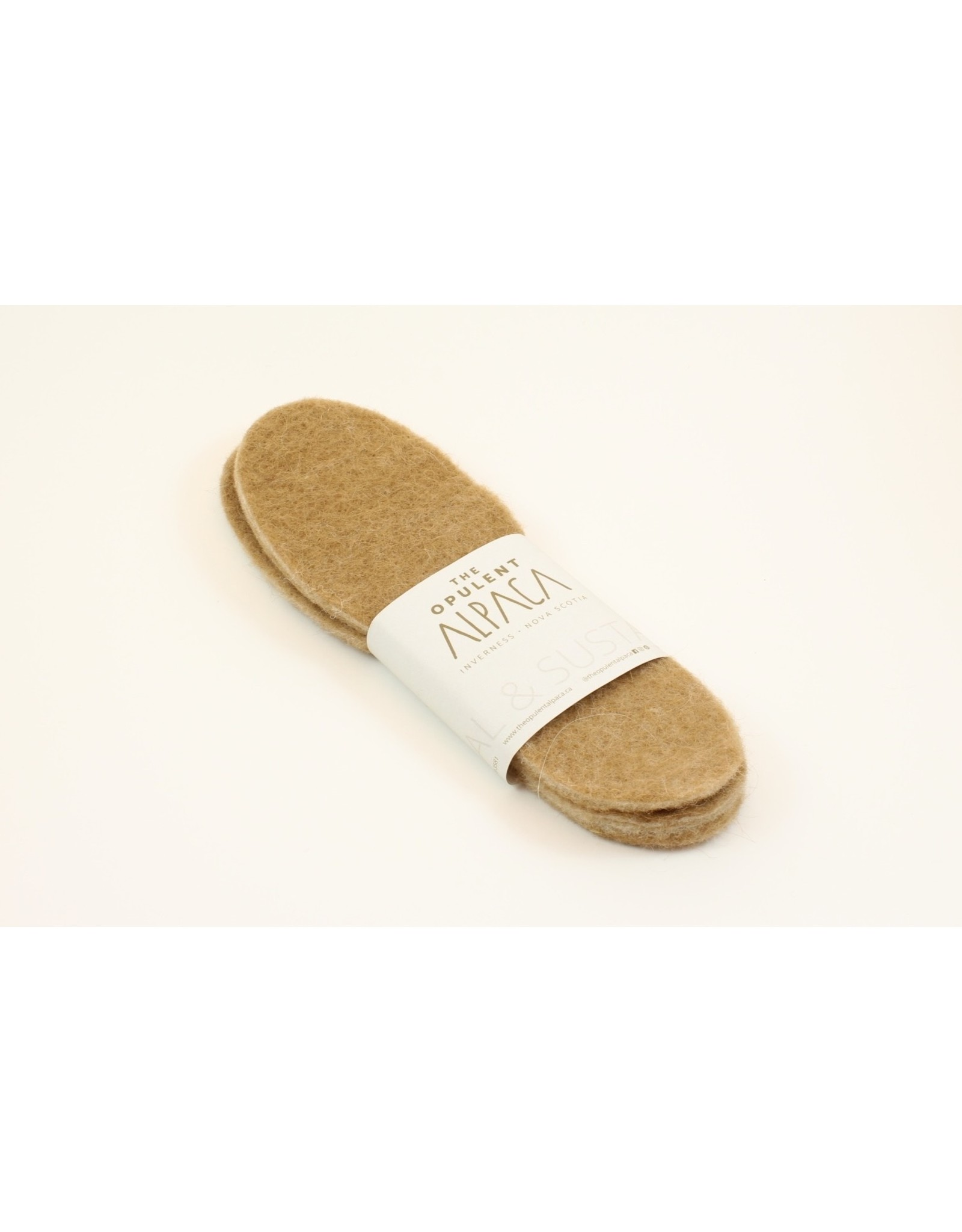 The Opulent Alpaca Wool Felted Insoles by The Opulent Alpaca