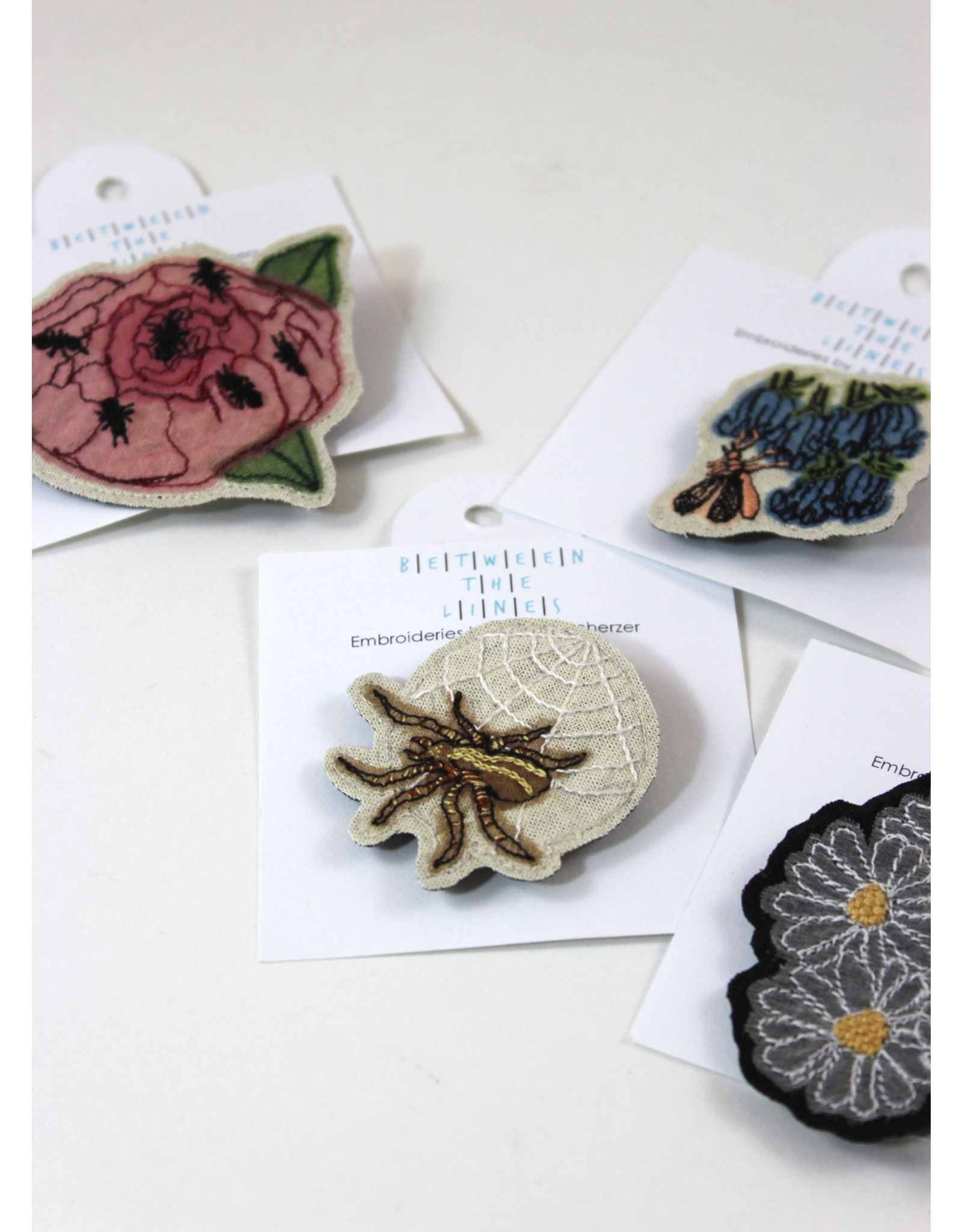 Juliana Scherzer Assorted Floral Pins by Juliana Scherzer