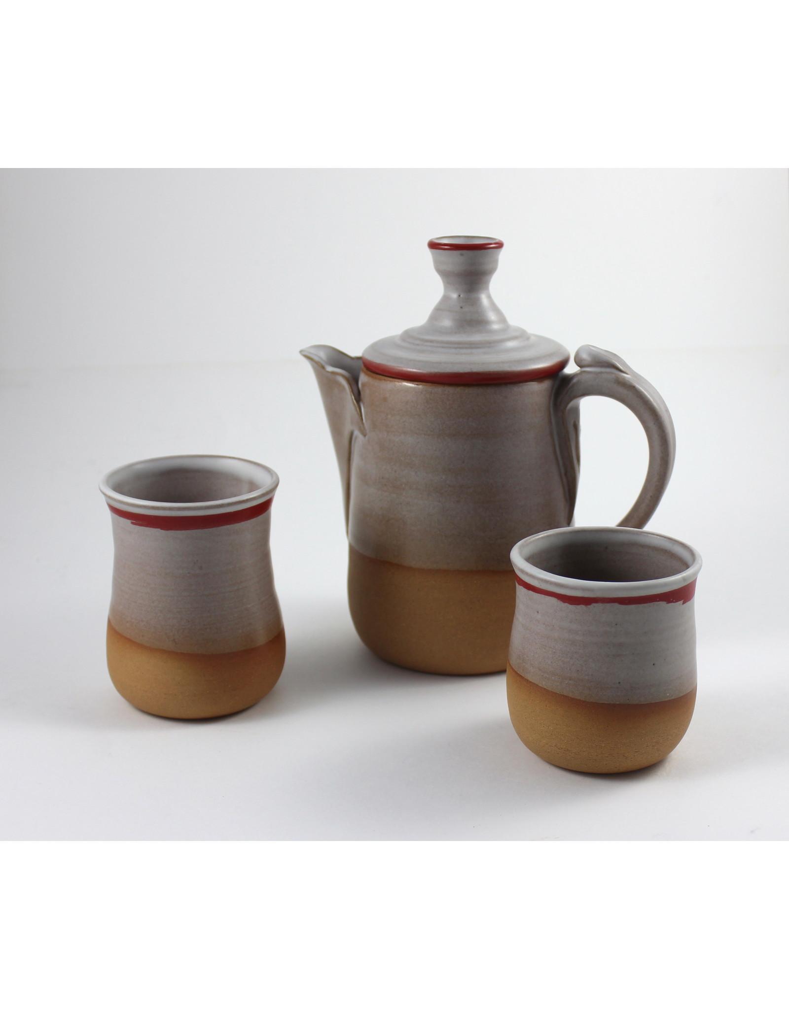 Jitka Zgola Red Stripe Tea Set by Jitka Zgola