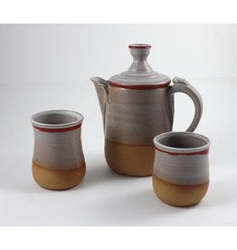 Jitka Zgola Red Stripe Tea Set by Jitka Zgola