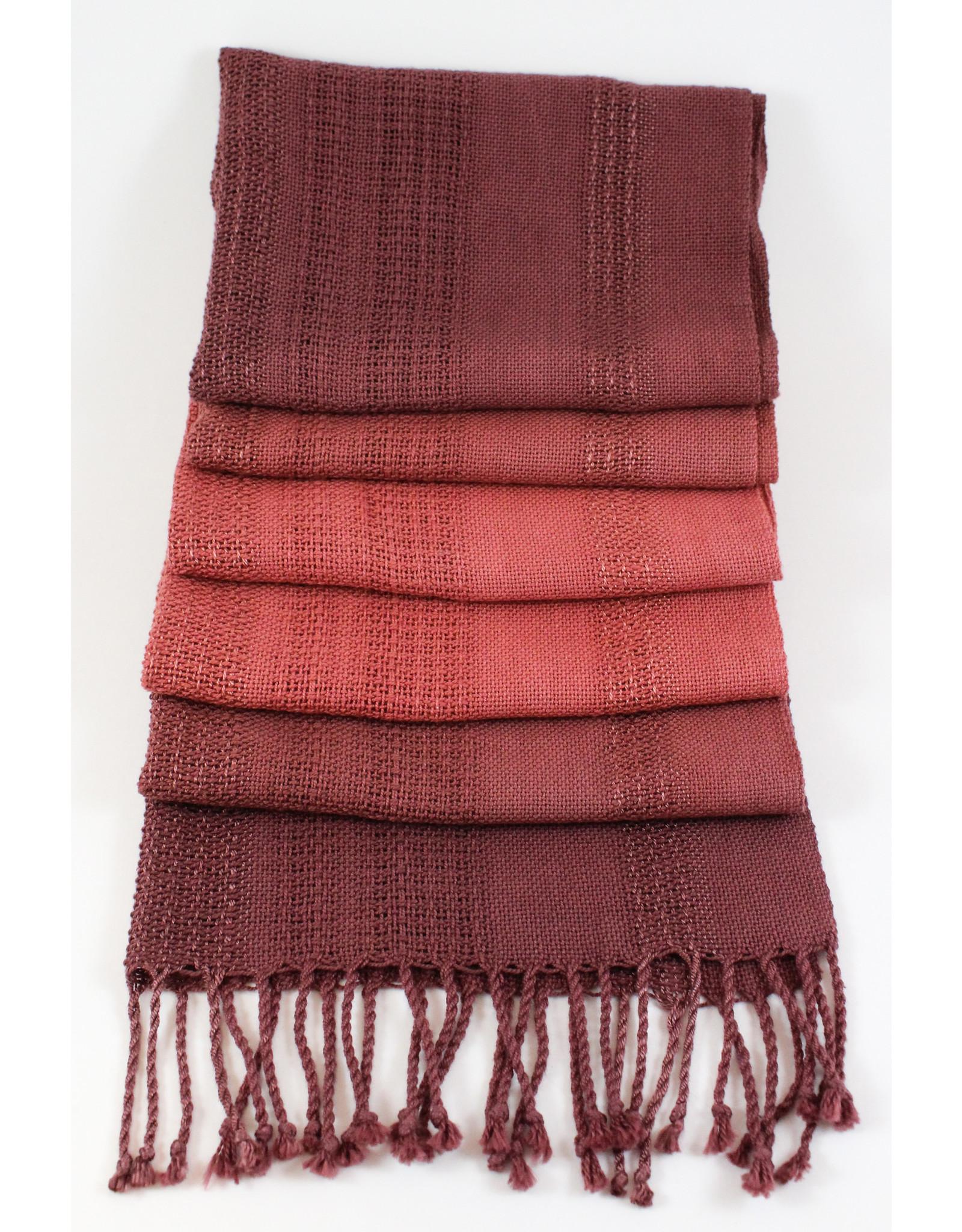 Jane Alderdice Cotton and Bamboo Dip-Dyed Scarf, handwoven by Jane Alderdice