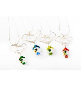 Tasha Matthews Bird Doodle Necklace by Tasha Grace Designs