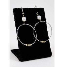 Dawn Silver Bass Earrings by Encore Jewellery