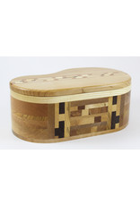 Robert Evans Lidded Box with Inlaid Wood by Woodsmiths