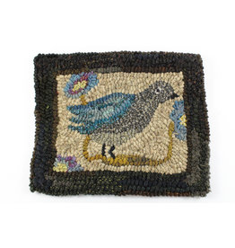 Paula Davis Bird on Beige Mat by Loop Maker