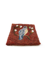 Paula Davis Bird on Red Mat by Loop Maker