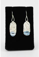 Teddy Tedford Blue Topaz Earrings by Teddy Tedford