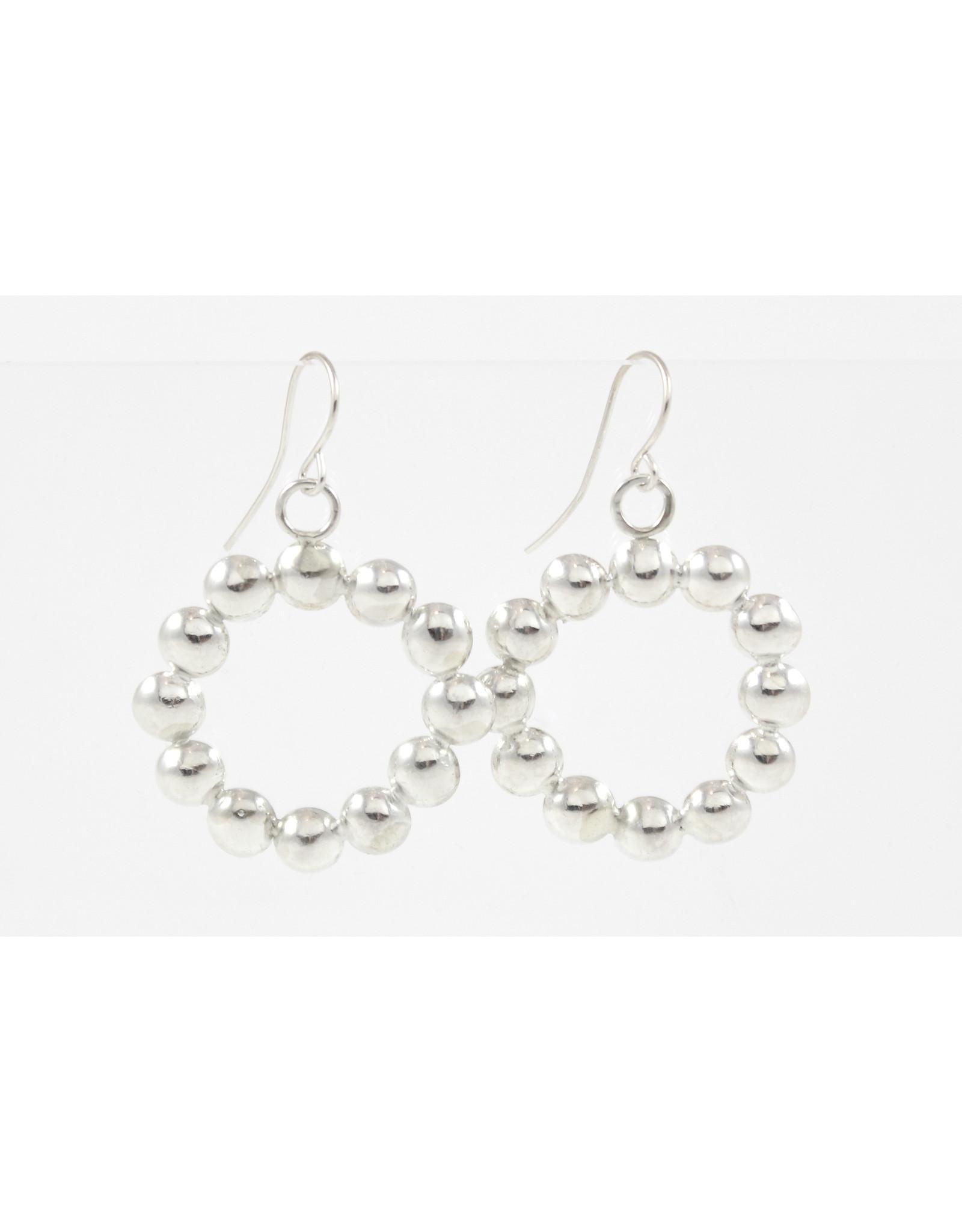 Karen Graham Domed Circle Earrings by Karen Graham