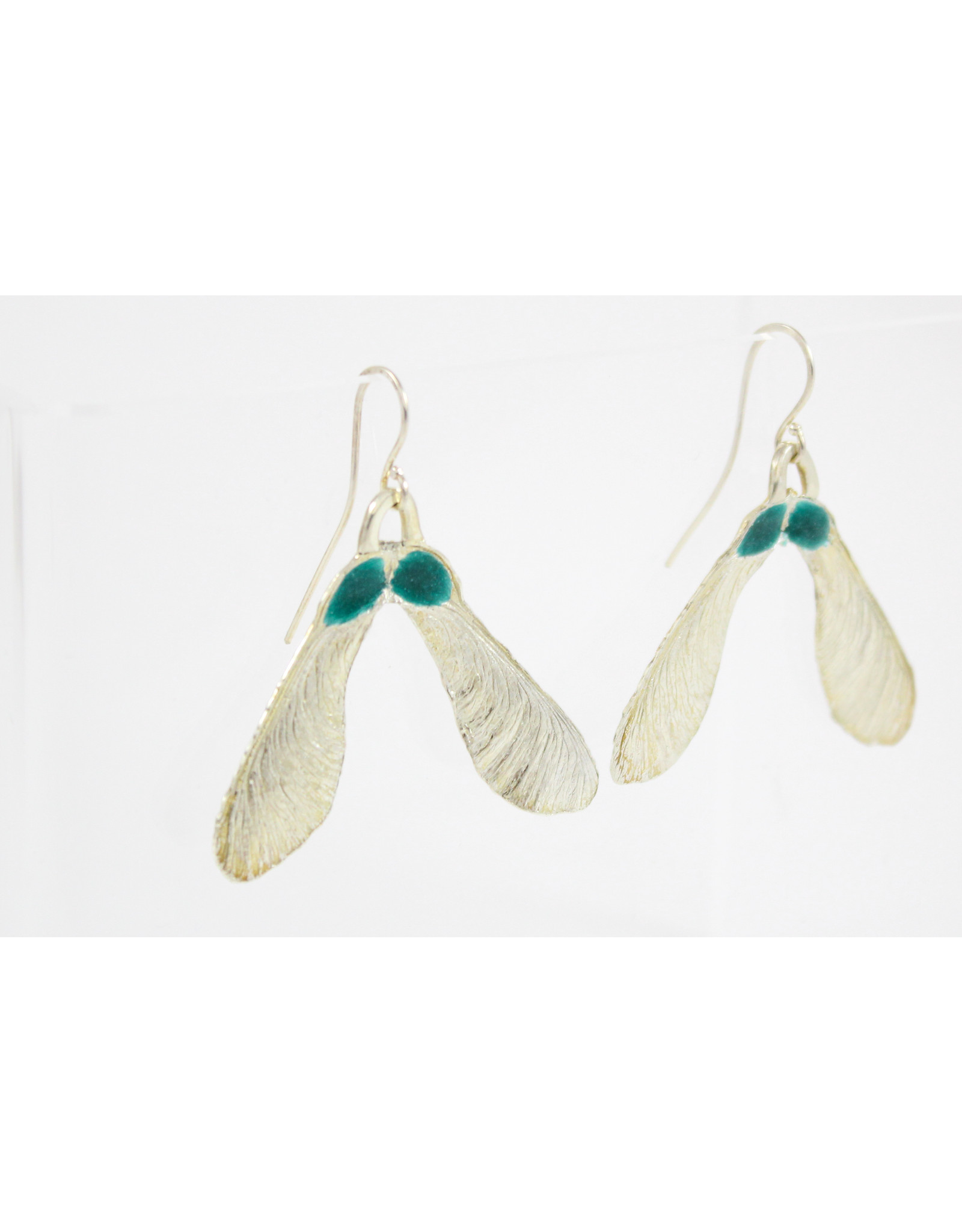 Karen Wawer Maple Seed Earrings by Karen Wawer