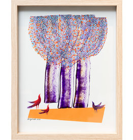 Reza Bigonah Trees and Birds (Three Birds) by Reza Bigonah