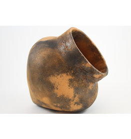 Nancy Oakley Micaceous Clay Mi'kmaq Pot by Nancy Oakley