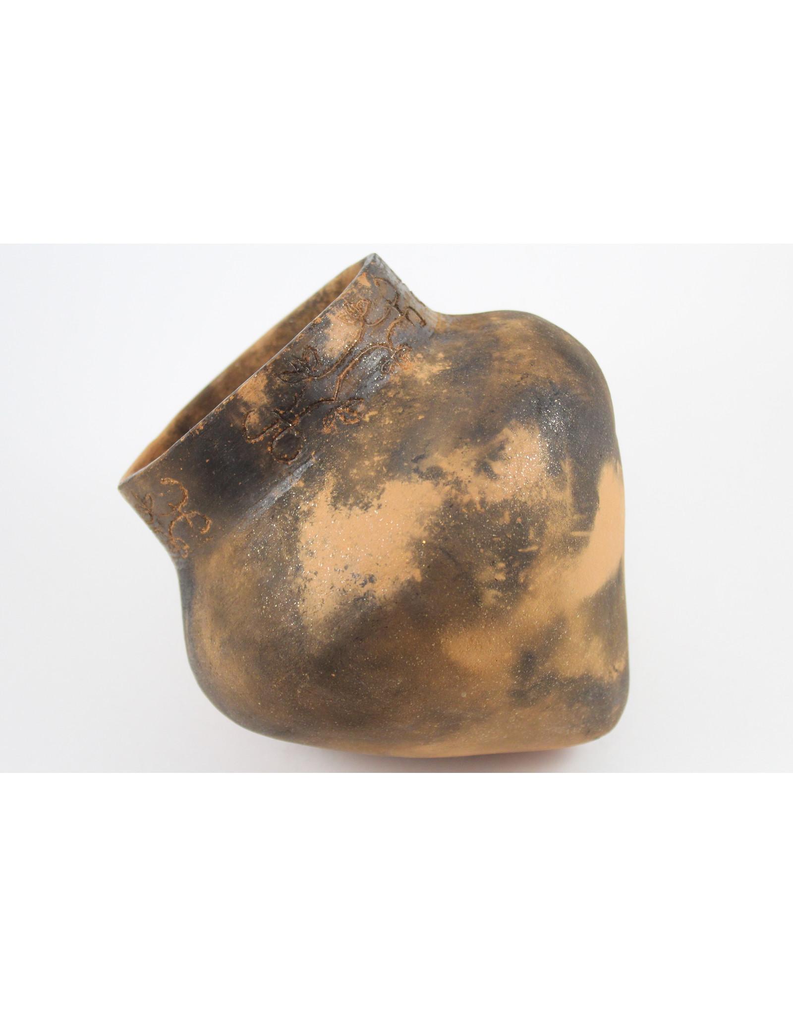 Nancy Oakley Micaceous Clay Mi'kmaq Pot by Nancy Oakley