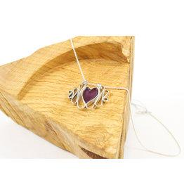 Karen Wawer Red Heart Pendant by Karen Wawer