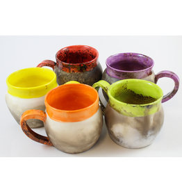 Nancy Oakley Smoke-Fired Mugs by Nancy Oakley