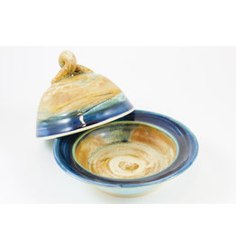 Linda Wright Oceanic Butter Dish by Linda Wright