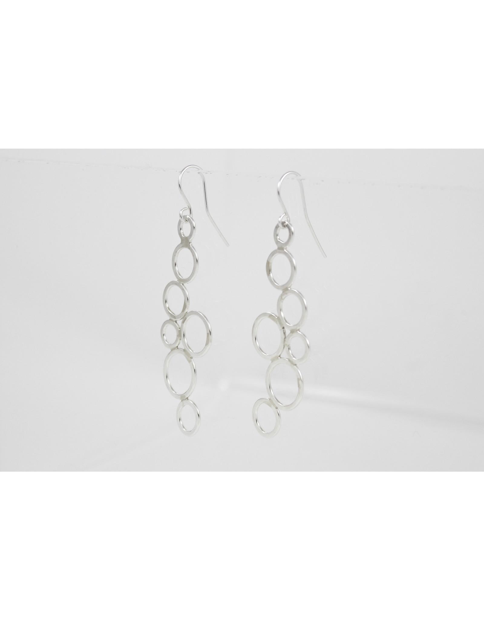 Karen Graham Staggered Circle Earrings by Karen Graham