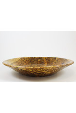 phil jones Shallow Spalted Maple Bowl by The Bowl Guy
