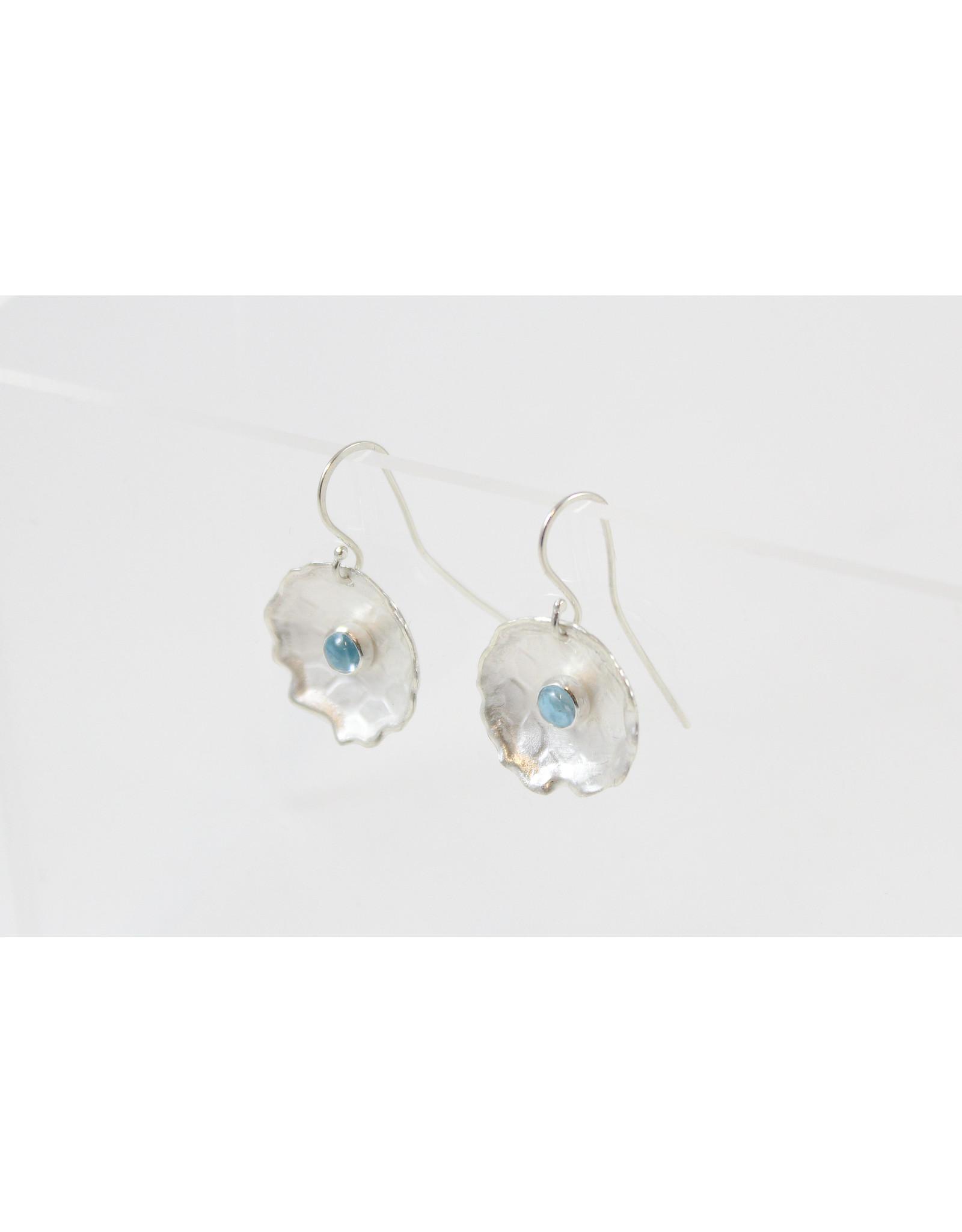 Karen Wawer Gemstone Saucer Earrings by Karen Wawer