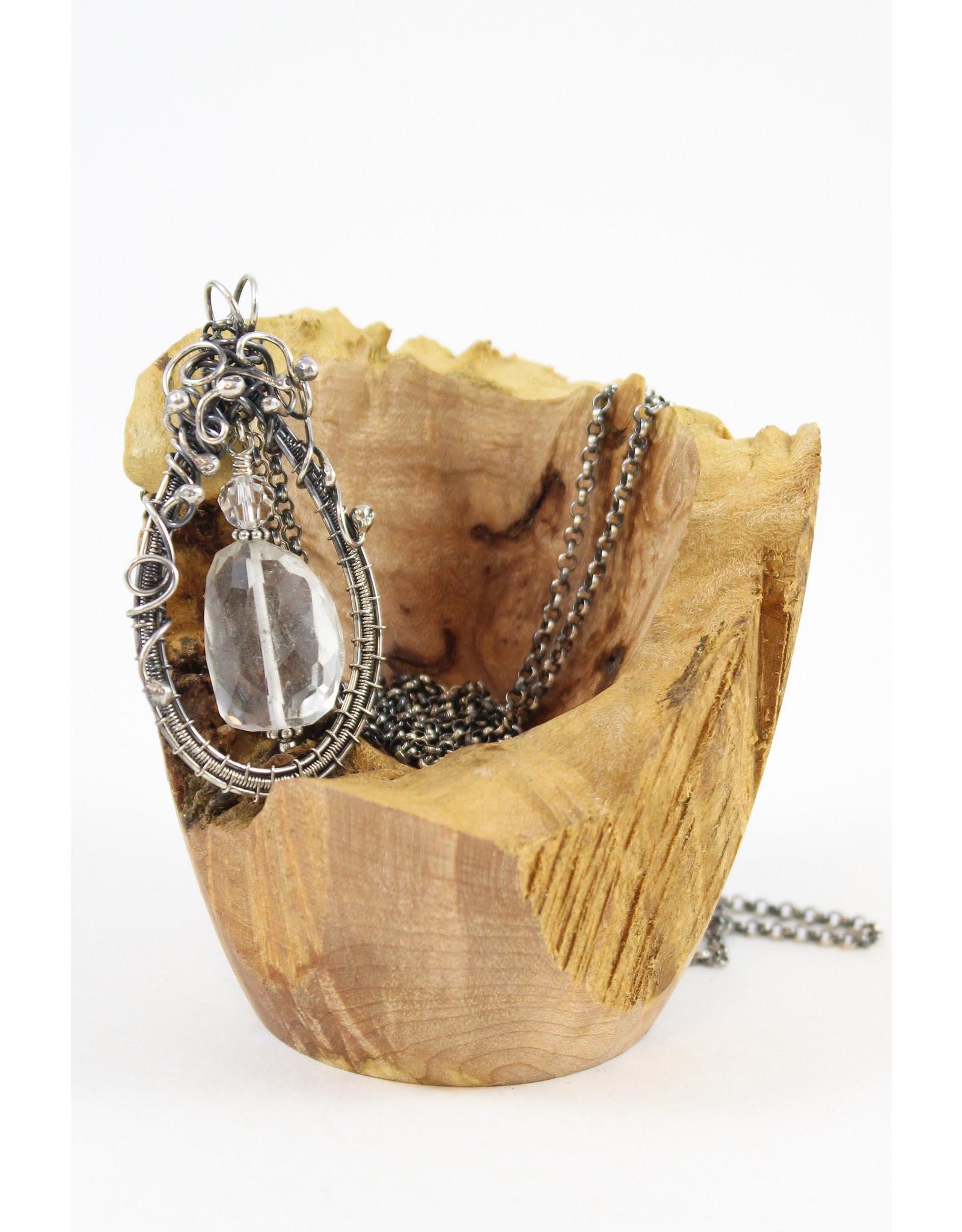 Tasha Matthews Quartz and Crystal Pendant by Tasha Grace Designs