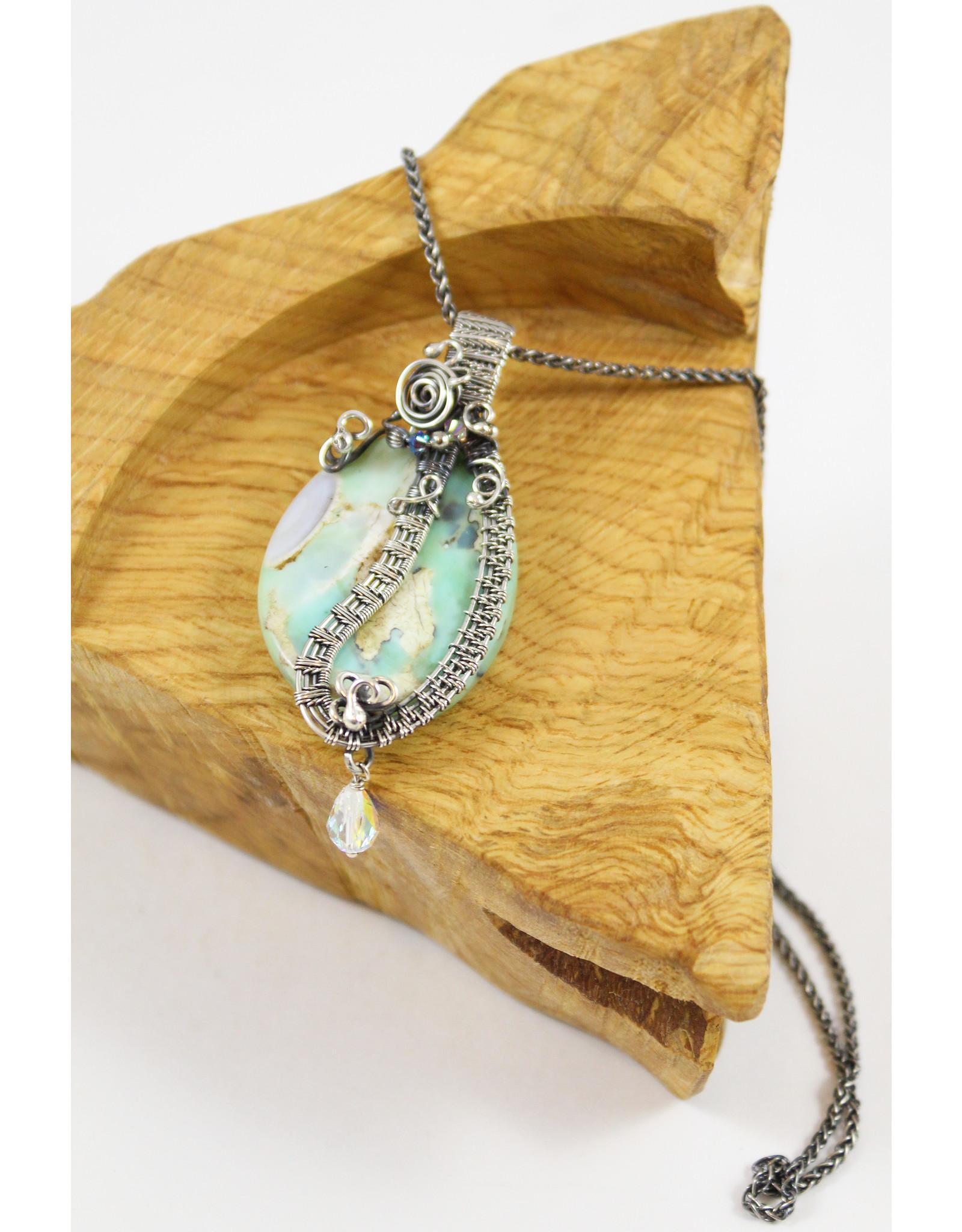 Tasha Matthews Complex Wire Weave Pendants with Semi-Precious Stones by Tasha Grace Designs