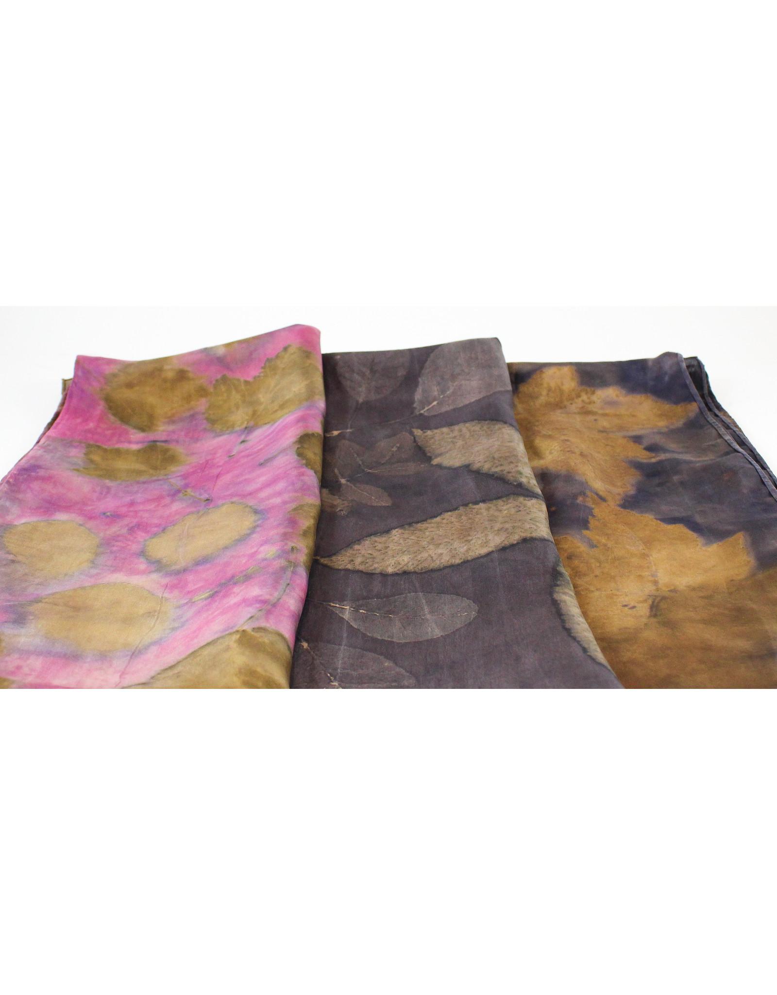 Mel Sweetnam Naturally Printed Silk Scarves by Mel Sweetnam