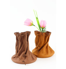 Jolene Dauphney Small Flower Vase by Leather Works