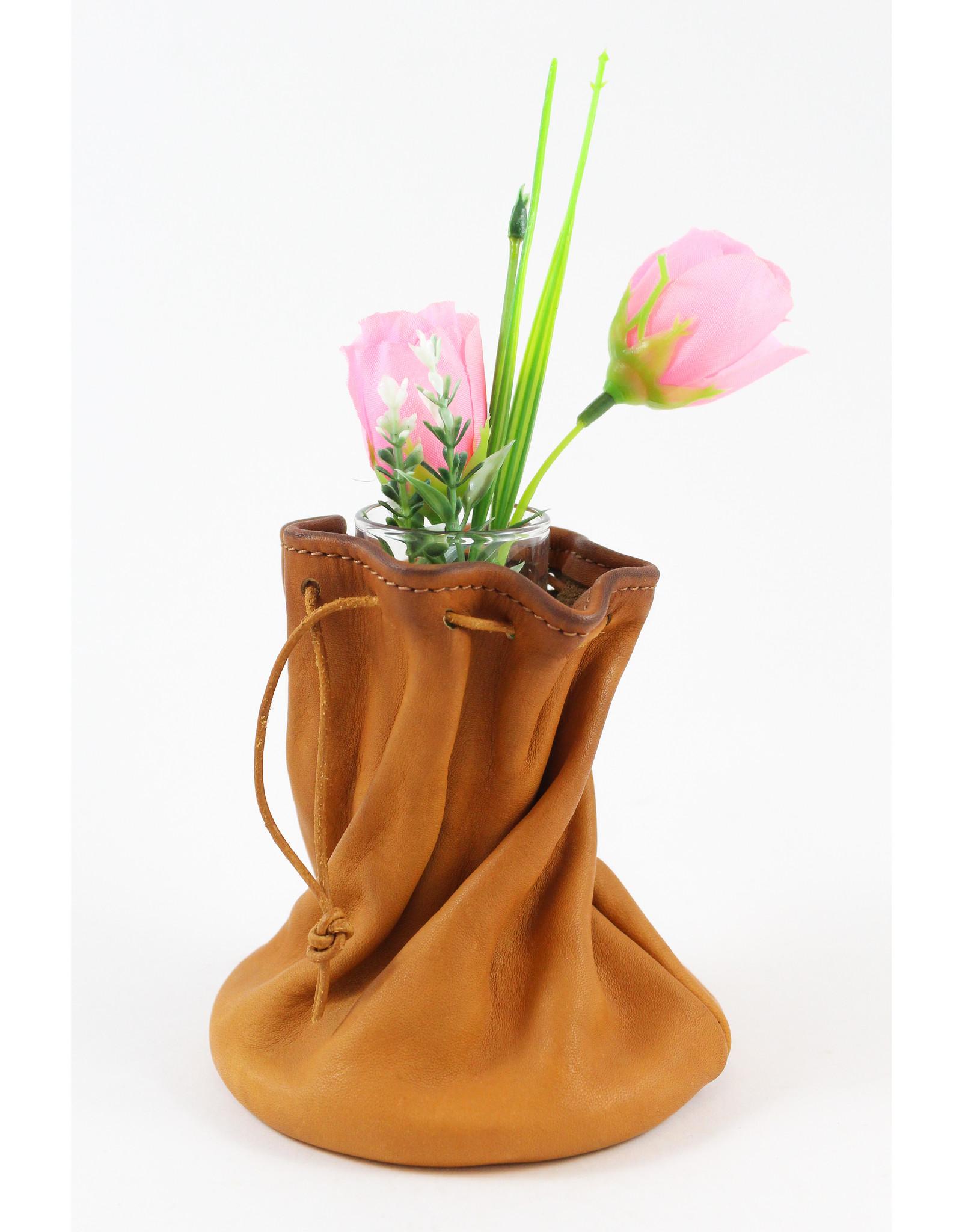Jolene Dauphney Small Flower Vase by Leather Works