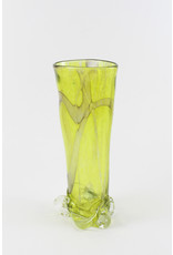 Wendy Smith Yellow Blown Glass Vase by Glass Artisans