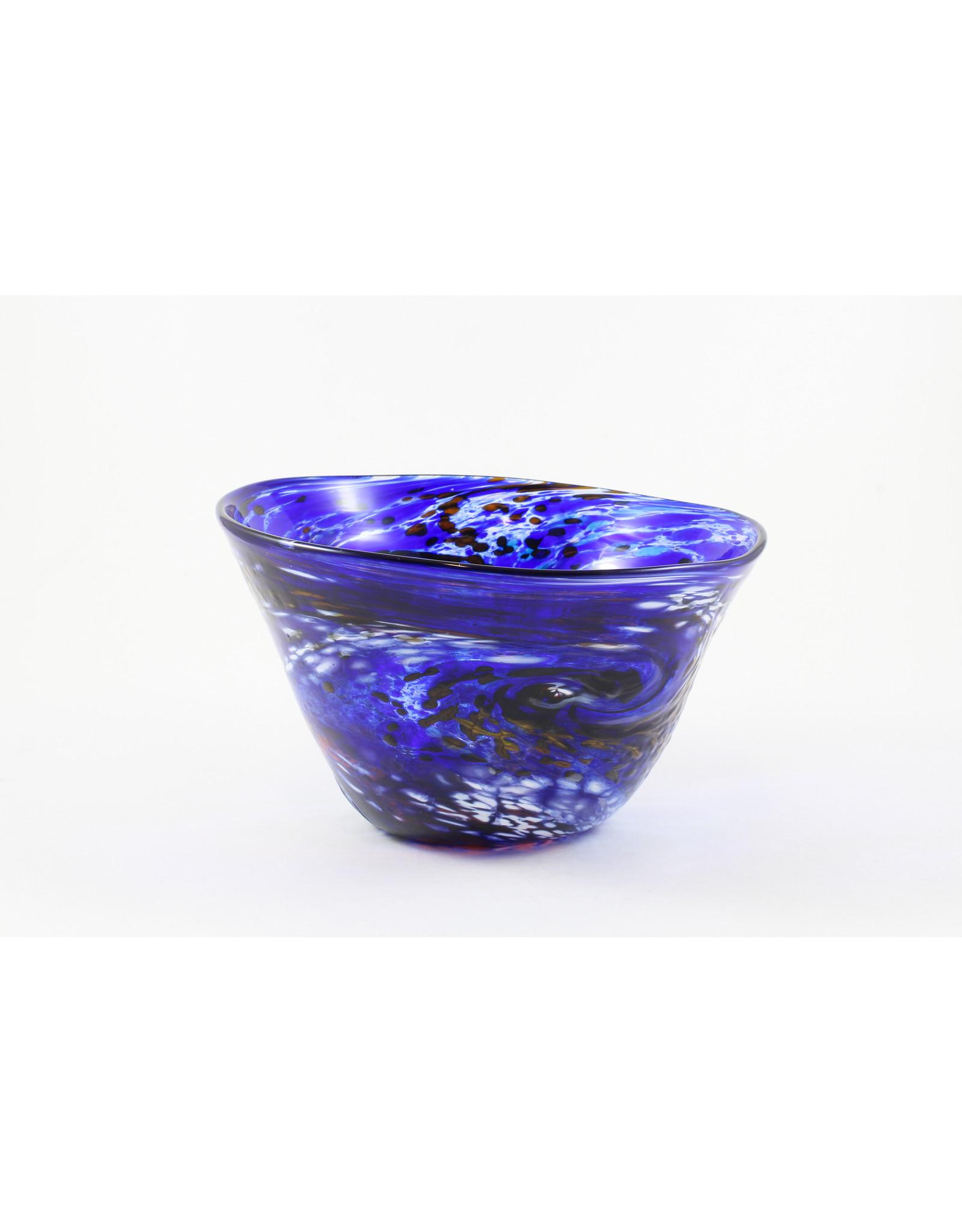 Wendy Smith Medium Blown Glass Bowl by Glass Artisans