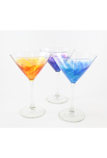 Glass Artisans Hand-painted Martini Glass by Glass Artisans