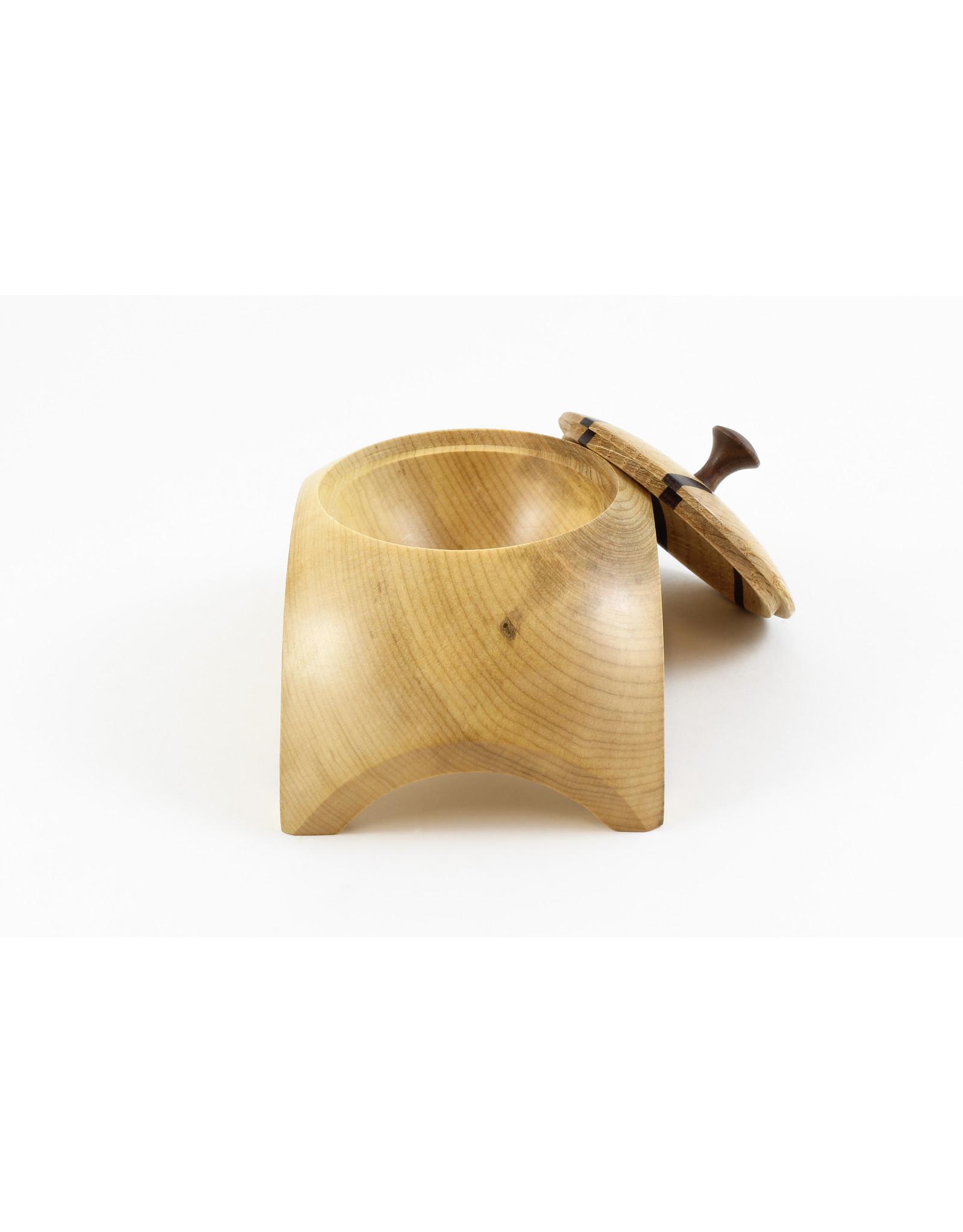 Hugh Ross Maple, Oak and Walnut Box by Hugh Ross