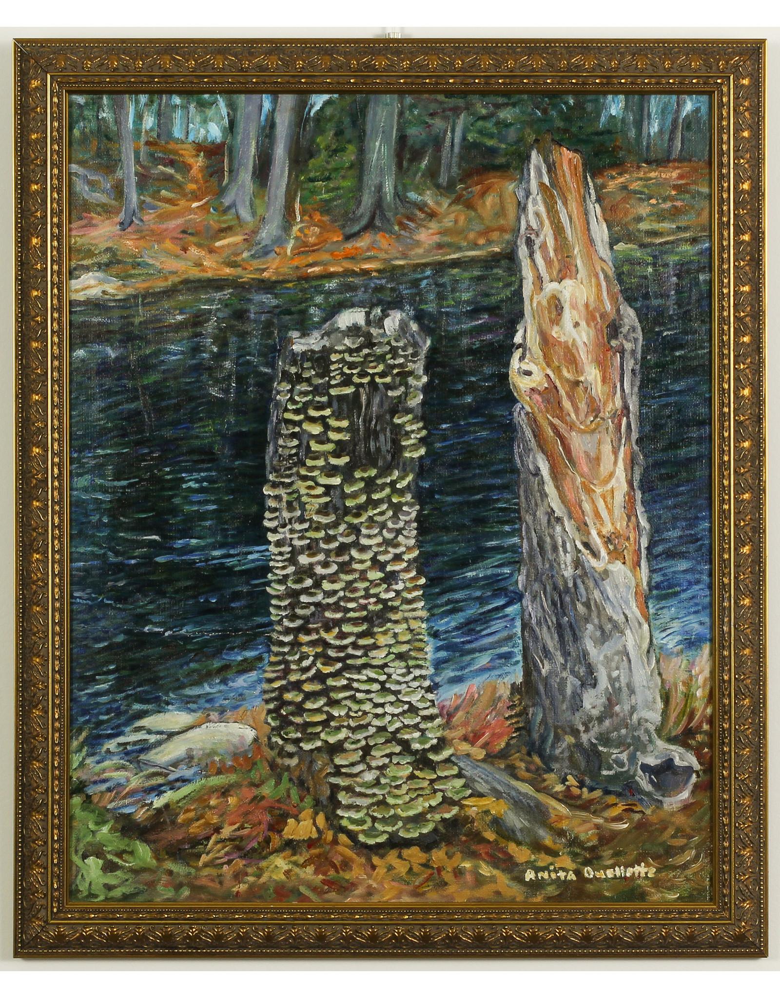 Anita Ouellette River End of Côte St Paul Road (Trees) by Anita Ouellette