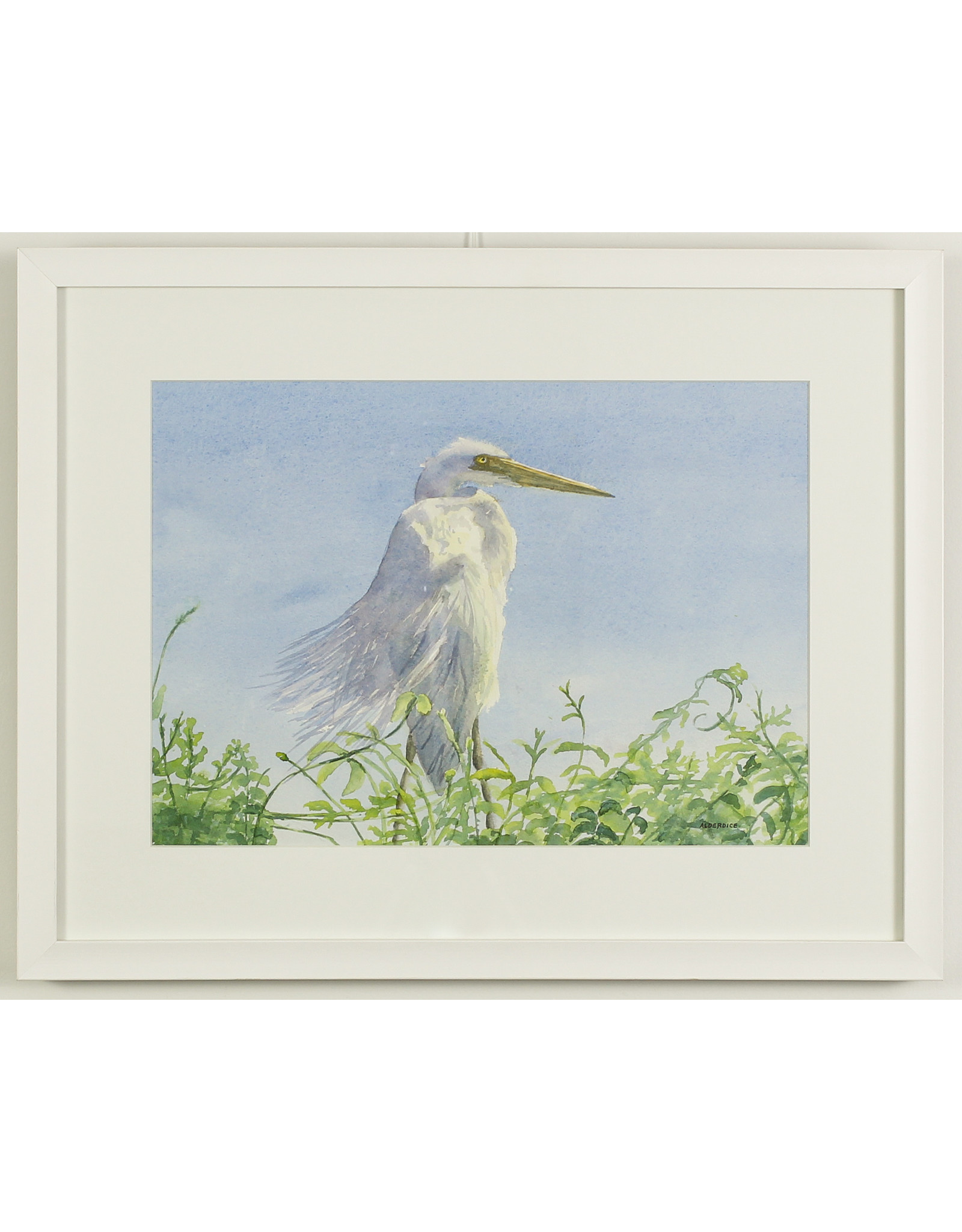 Jane Alderdice Egret by Jane Alderdice