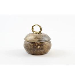 Nancy Oakley Acorn Pot by Nancy Oakley