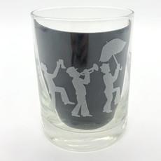 Leonard Etched Jazz Fest Glass
