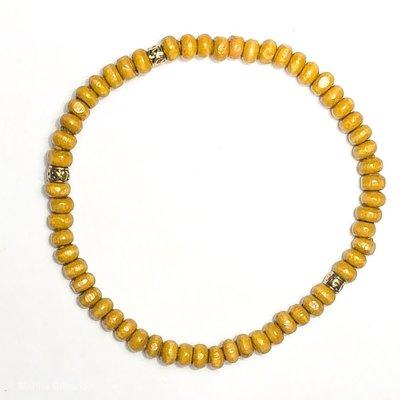 My Fun Colors Light Wood Bead Bracelet