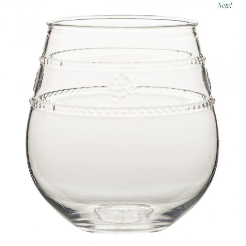 Juliska Juliska Stemless Wine Glass Acrylic Isabella