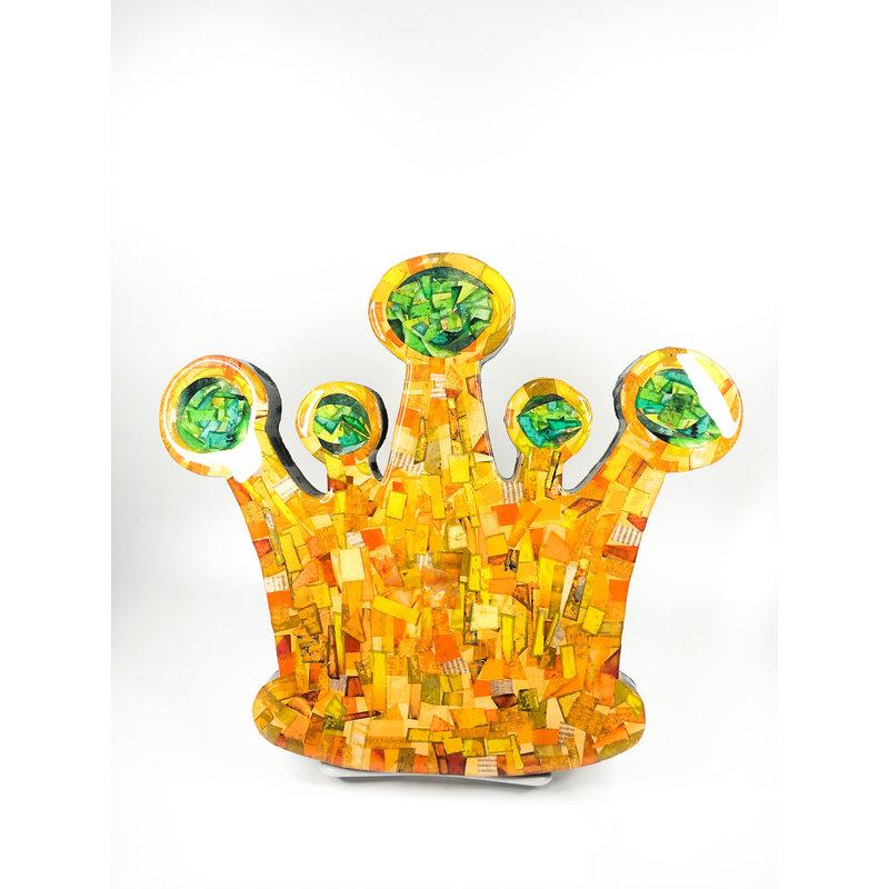 Cynthia Kolls Consignment Cynthia Kolls Small Crown Collage Green