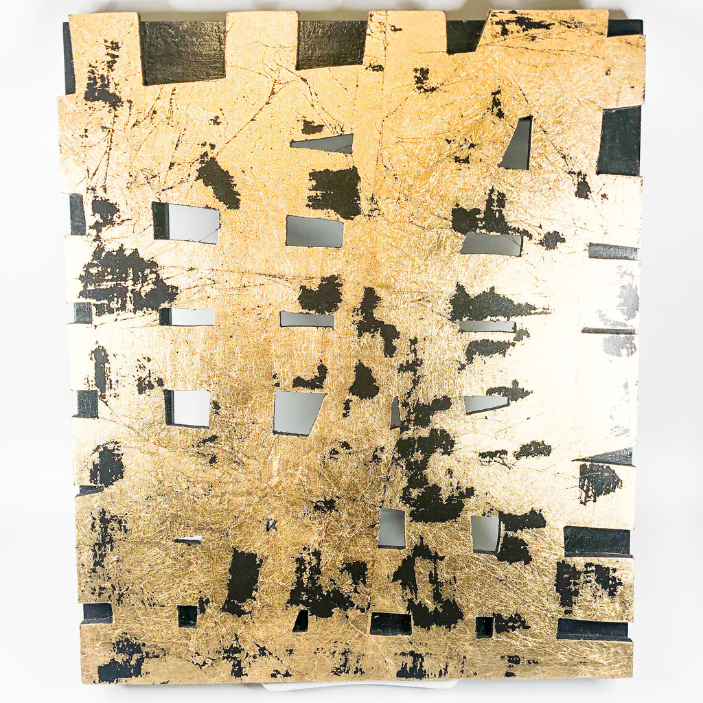 Cynthia Kolls Consignment Cynthia Kolls Rectangle Gold Foil Cut Out