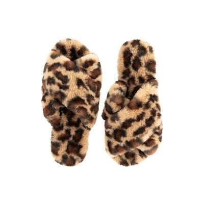 Fabulous Furs Fur Slippers Leopard L (9/10)