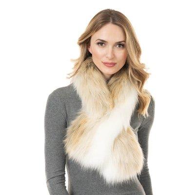 Fabulous Furs Pull-Through Scarf Arctic Fox