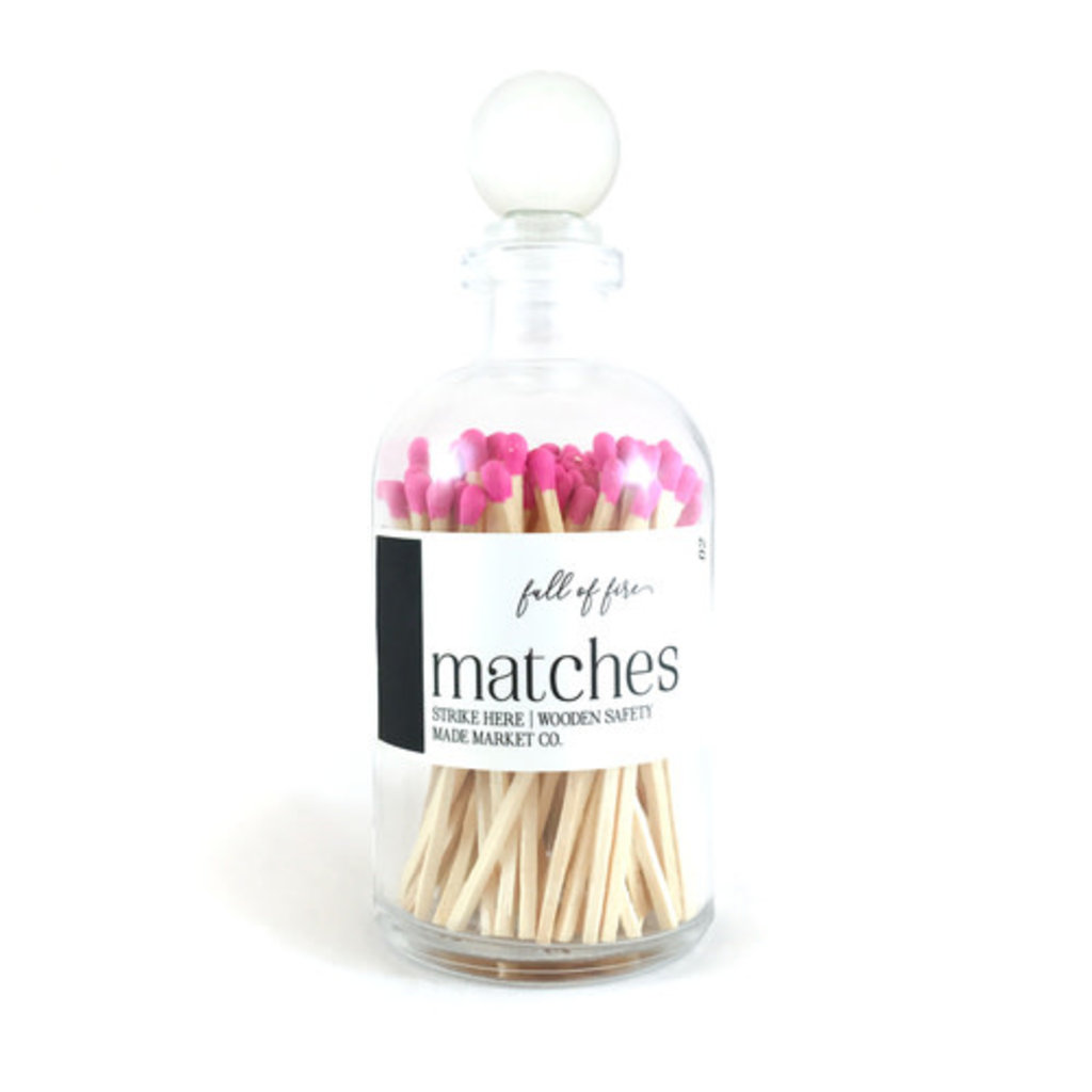 Made Market Co. Full of Fire- Pink Matches