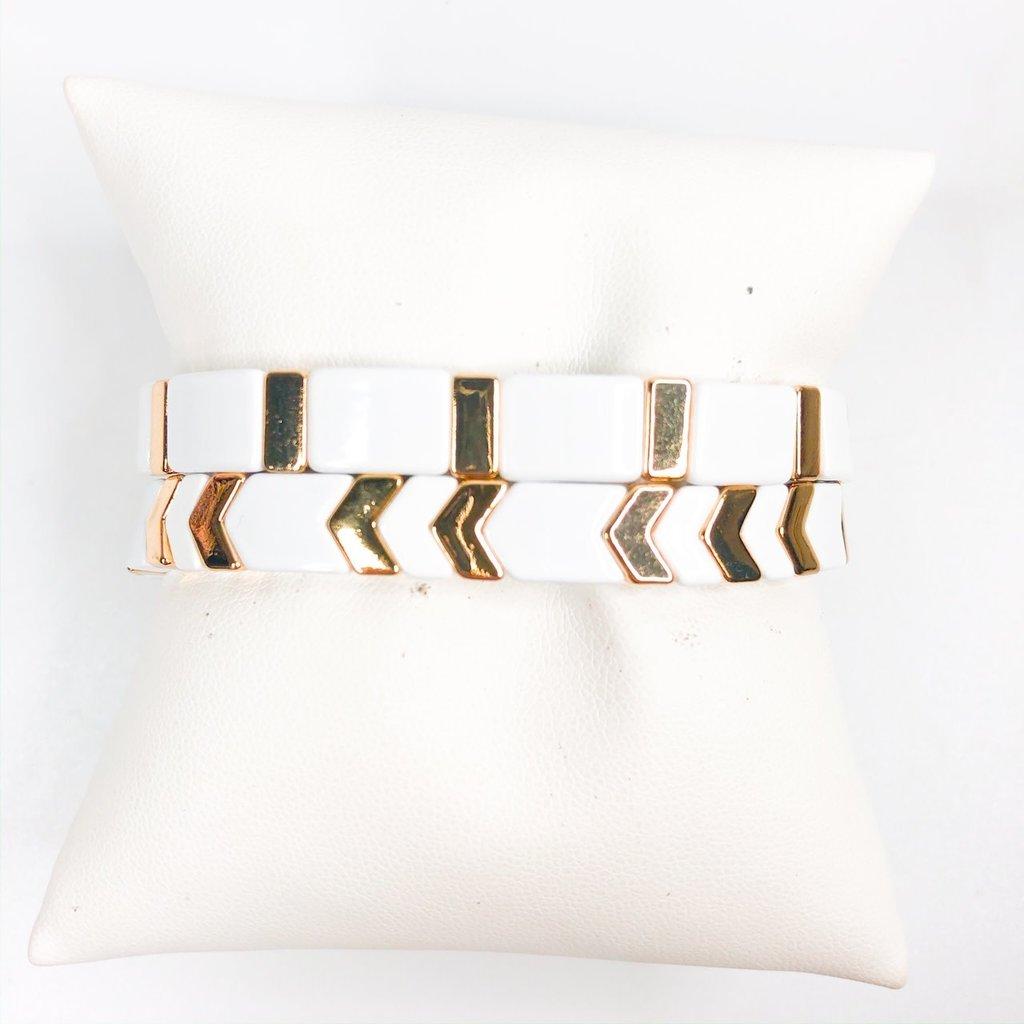Gemelli White/Gold Arrow
