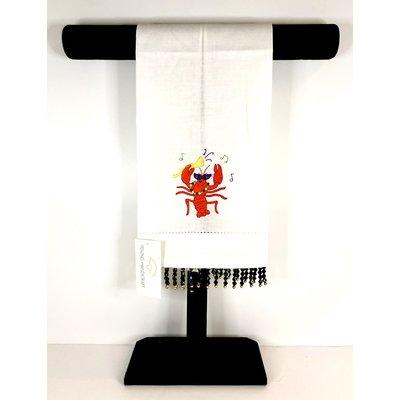 Peking Handicraft Mardi Gras Crawfish Tea Towel